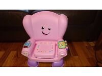 Fisher-Price Laugh & Learn Smart Stages Chair - Pink collection only from Leeds