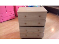 Chest of 4 Four Drawers - Oak Effect