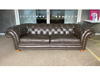 Stunning 3/4 seater leather chesterfield sofa £600