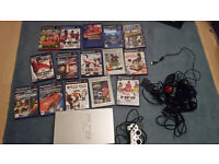 sony playstation 2 console ps2 and games memory cards