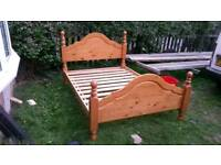 Solid Pine double Bed (delivery available)