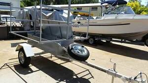 NEW 6 KAYAK CUSTOM TRAILER RATED 750KG WITH ENCLOSED BOX Caloundra Area Preview