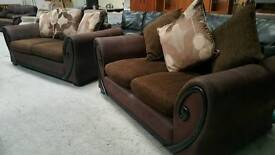 Modern 3 and 2 sofas can deliver 07808222995