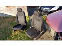 Vauxhall Corsa D front seats