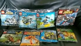 8 brand new sealed Lego packets