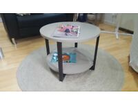 Light Grey & Dark Wood Coffee Table