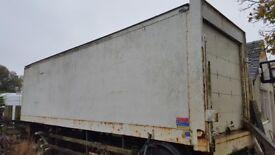 30ft artic trailer , single axel, box body.