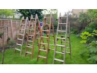 4 wooden ladders