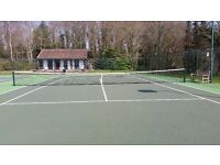 Full size competition tennis net with posts only 2 yeasr old
