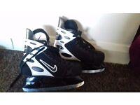 Nike ice hockey boots size 5