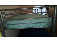 Triple sleeper/ Bunk Bed Metal Frame with Mattresses.