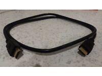 HDMI Cable for TV / Audio / PC, etc. Gold Connectors. Black cable. Approx 1 metre. Excellent.