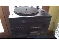 Panasonic stereo record player with fm radio & twin cassette player