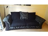 Large double black and grey sofa