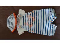 3-6 months baby sets dungerees, romper, hats, vests t-shirt £4 per set