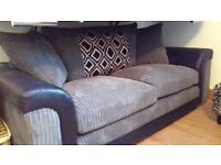 TWO DESIGNER SOFAS - EX DISPLAY NEW WITH SCUFF ON BACK - CAN BRING GTR MCR - TO CLEAR 450.oo