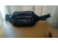LEATHER (black) bum bag