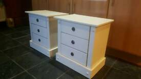 Bedside lockers cabinets drawers tables
