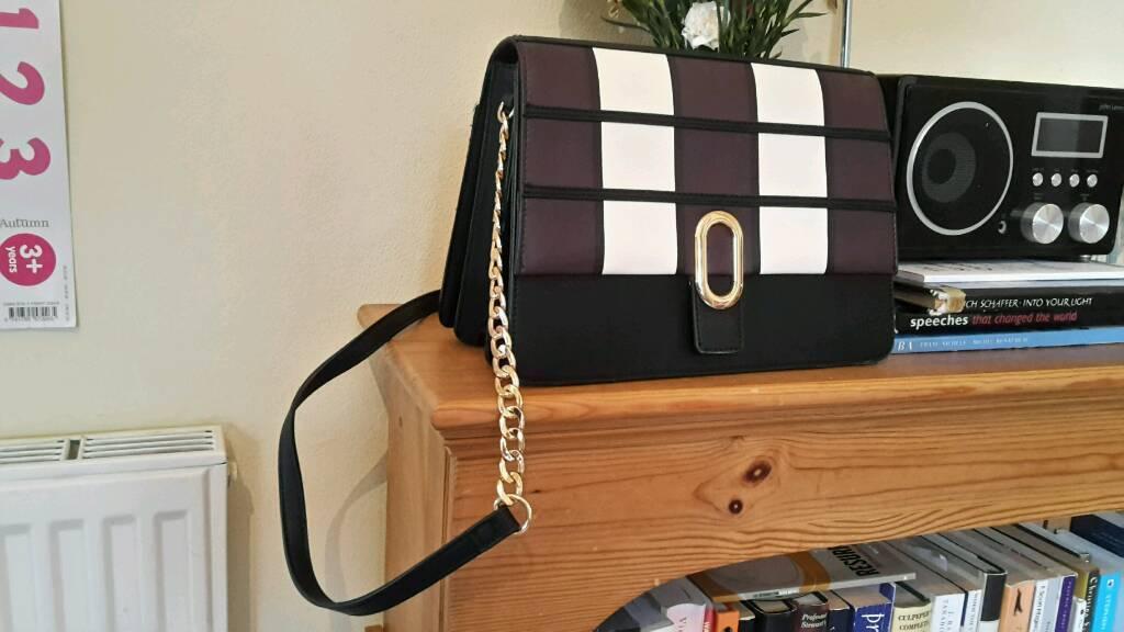 Leather M&S handbag