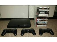 PS3 18 games 3 wireless pads