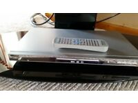 """Hitachi 42"""" LCD TV with DVD player and stand"""
