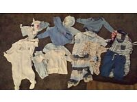 0-3 months boy clothes couple of 3-6 months