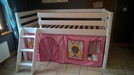 Mid Sleeper Cabin Bed by Flexa (white)