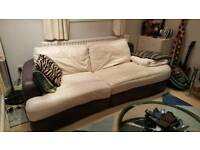 FREE Three seater sofa (chaise end) and tub chair