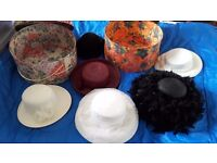 Wedding and Casual Hats with Hat Boxes, some never worn
