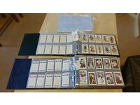 Cigarette and Tea cards - 4 folders and box of Assorted cards