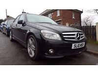 Mercedes C250 Cdi Sport Blue Efficiency in Metallic Black with the 6 speed gearbox