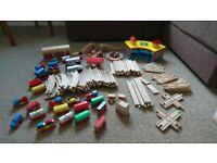 Wooden Train Set - Early Learning (Brio Style)