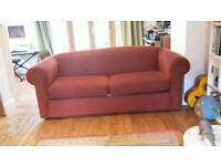 Folding sofa bed, double size, sprung