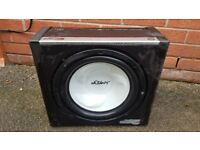 Vibe sub with build amp gotalso other car audio stereo amps speakers!best come and wiev!can deliver!