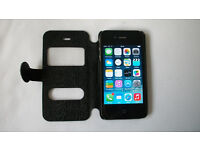 iPhone 4 - UNLOCKED - in Excellent Condition with wallet style case and Accessories