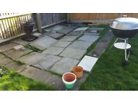 Free concrete paving slabs. Various sizes to cover approx 4 x4m
