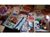 Craft Clearout Large Collection due to group closing stamps, punches peeloffs,