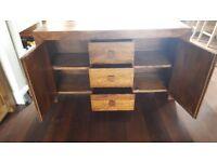 Modern dark wood sideboard for sale