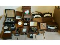 Antique test instruments Military Naval RAF Railway GOP and others