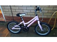 Girls 14inch wheel bike