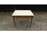 Victorian pine scrub top table.