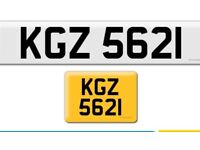 KGZ 5621 private cherished personalised personal registration plate number