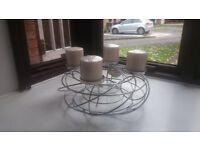 CANDLE HOLDER - SILVER BIRD'S STYLE - NEW.