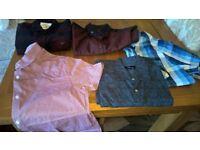 Mixed lot of mens smart shirt size small
