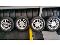 Toyota Genuien 14 alloy wheels + 4 x tyres 175 65 14