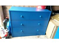 3 and 2 Drawer Chests In Blue.