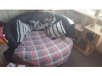 Swivel chair love sofa round