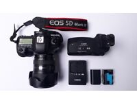Canon EOS 5D Mark III with 24-105mm Lens, Grip, 2 Batteries, Charger and Accessories