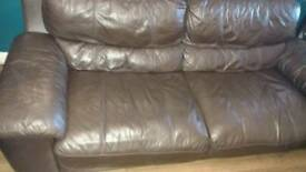 Gorgeous Brown Italian leather 3 seater and 2 seater sofa from Sofology