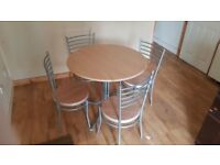 Dining Table Round With 4 Chairs